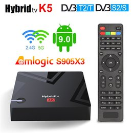 Mecool 2GB+16GB K5 tv set-top box dual-band wifi Android 9.0 Dual-frequency 4K HD network player on Sale