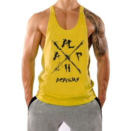 captain t shirt NZ - Fitness tank top muscle captain breathable sling sleeveless T-shirt men's sportswear