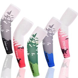 Ice Silk Arm Sleeves Cover Sun Block Anti UV Protection Sleeves Outdoor Sports Cycling Cooling Arm Sleeve CYZ3057 on Sale