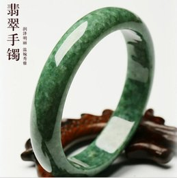 56-62mm Natural Jade Bangle Bracelet Jewelry Stone Fashion Gift Delicate Bracelets Round Green Women Smooth New Arrivals