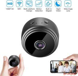 A9 Kamera bezpieczeństwa Full HD 1080p 2MP WiFi IP KCamera Night Vision Wireless Mini Home Safety Nadzór Micro Małe Cam Remote Monitor Telefon OS Android App