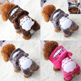 Wholesale designer clothes jackets resale online - Soft Warm Dog Clothes Coat Pet Costume Fleece Clothing For Dogs Puppy Cartoon Winter Hooded Jacket Autumn Apparel XS XXL V2