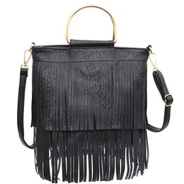 Handbags tassels handbag pure colors Purse elegant single shoulder Messenger Bag European and American fashion music festival lady bags WMQ873 on Sale