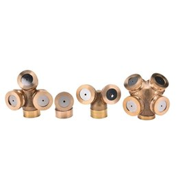 brass water nozzles UK - 1 2 3 4 Nozzles Agricultural Brass Misting Spray Nozzle Garden Sprinkler Irrigation System Watering Equipments