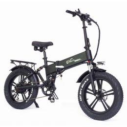 750W Folding Electric Bicycle 20*4.0 Fat Tire Mountain Bike 48V E-bike Full Suspension RX20