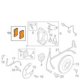 Audi OEM Q5 Frontal Pastillas de freno trasera Conjunto 8R0698151L 8K0698451F 8R0615121 en venta