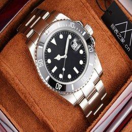 Luxury mens watch submarine calendar 40mm classic luminous efficient waterproof Stainless steel Factory direct sale Wristwatches mecha