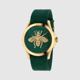 Fashion simple brand little bee tiger snake pattern quartz leather watch sports classic popular style clock Relogio Masculino 005 on Sale