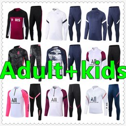 fatos de treino para adultos venda por atacado-psg jersey real madrid jerseys france barcelona mens tracksuit soccer tracksuit football training survetement foot chandal futbol