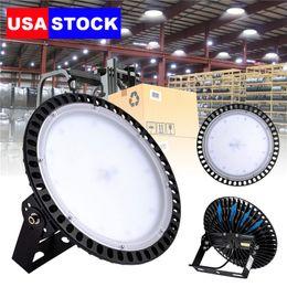 Wholesale LED High Bay 100W 200W 300W 6000K-6500K UFO AC110-120V IP65 Waterproof Apply to Warehouse, garage, factory workshop