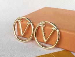 2021 Hot Designer Oorbellen Mode Gouden Hoop Oorbellen Voor Lady Dames Party Earring Nieuwe Bruiloft Liefhebbers Gift Engagement Sieraden voor Bruid
