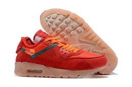 Wholesale Mens Running Shoes 90 Road Outdoor Trainers women Off Cushion Walking Desert Ore Triple Black White Racer SneakersN Ni ok