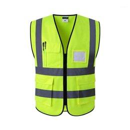 Ingrosso 2021 Gilet riflettente Costruzione Ingegneria Ingegneria Sicurezza Protezione di sicurezza Traffico Avvertimento Verde Fluorescente Cappotto per ciclismo Moto