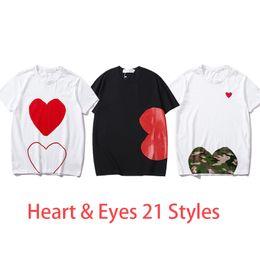 女性のファッションティー夏のTシャツの女性のトップスの心の目を印刷する男性Tシャツの女性男の子女の子のプルオーバー半袖