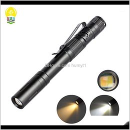 Discount pocket power Flashlights Torches Led Pen Torch Power By 2 Batteries Two Colors Portable Pocket Clip For A Specialist Such As Mechanic1 X66Pb Ps9Zc