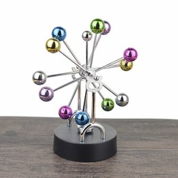 Colorful Ball Ferris Wheel Permanent Motion Instrument Toy Without Pendulum Celestial Body Model Home Decoration Magnetic Ornaments DHL FREE on Sale