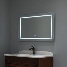 Опт Светодиодная ванная комната Зеркало тщеславие анти туманное туманное туманное тумановое ночное освещение туманная сенсорная кнопка Superslim 90+ CRI водонепроницаемый IP44 как вертикальный, так и горизонтальный настенный путь