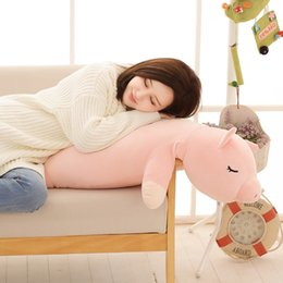 Wholesale pig mascots for sale - Group buy Plush Dolls Sleeping Long Cushion Head Bed Big Ba Office Pillow Year of Pig Mascot