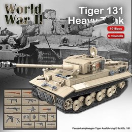 toy tigers 2021 - 1018pcs TIGER 131 Military Tank Building Blocks WW2 Heavy Tanks Bricks Set Weapons Soldiers Models Kids DIY Toys Children Gifts 210330