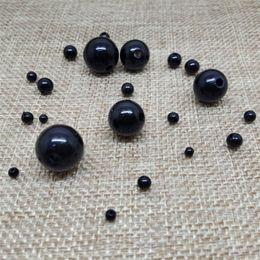 3-20mm ABS cor preta imitação pérola contas redondas grânulos acrílicos para jóias fazendo bracelete bracelete diy atacado 2064 Q2 em Promoção
