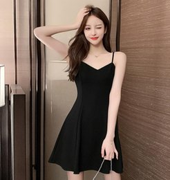 Wholesale new look fashion dress resale online - Women s fashion New design of suspender skirt Close waist in summer Look out inside European and American style mid length dress