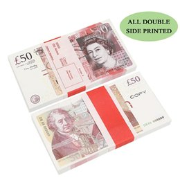 Play Paper Printed Money Toys Uk Pounds GBP British 10 20 50 commemorative Prop Money toy For Kids Christmas Gifts or Video Film on Sale