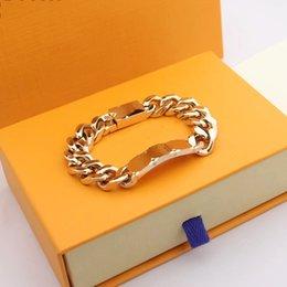 Designer High Quality Silver Love Bracelet Men Women Gold Bracelets Chain Fashion Personality Hip-hop on Sale