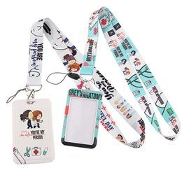 nurses keychain Canada - Keychain P01 Grey's Anatomy Tv Show Arts Nursing Neck Strap Keycord Holder Id Card Passport Hang Rope Lariat Lanyard Gifts