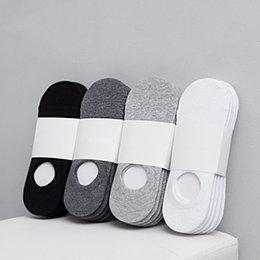 Опт 2021 Мода Счастливые Мужские Лодки Носки Летние Осень Нескользящие Силиконовые Невидимые Хлопковые Носки Мужской Лодыжки Носка Тапочки Meia