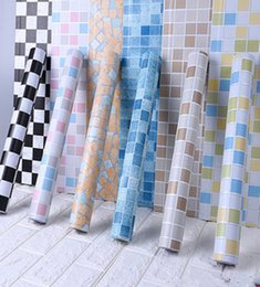 Wholesale tiling mosaics for sale - Group buy 5M Bathroom Tiles Waterproof Wall Sticker Vinyl PVC Mosaic Self Adhesive Anti Oil Stickers DIY Wallpapers Home Decor