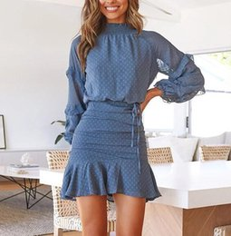 robe ample à col roulé achat en gros de-news_sitemap_homeWuhabo Ensembles Turtleneck Robe de chemise en vrac Femmes Boho Fashion Butterfly Sleeve Sexy Vols Mini Dot Courts Vestidos Casual Robes