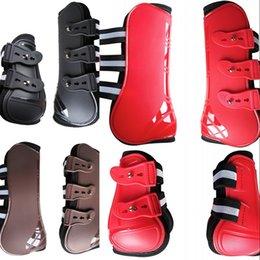 At Bakım Ürünleri için Ekipmanlar 4 ADET Ön Arka Çizmeler Ayarlanabilir At Bacak Çizmeler Equine Ön Arka Bacak Büresi Binicilik 251 X2