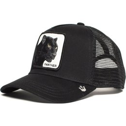 mesh trucker hats Australia - Panther Mesh Anime Patch Cat Baseball Cap Trucker Father Hat Snapback Summer Breathing Fashion Outdoor Leisure Caps