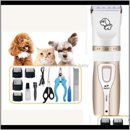 Discount dog shavers Pet Dog Electrical Animal Grooming Clippers Professional Cat Cutter Machine Shaver Electric Scissor 1200Mah 37V Qj4N3 M3Nse