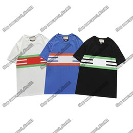Wholesale t g clothing for sale - Group buy Mens and womens designers luxury clothing T shirt European TOPS G fashion brand double button letter printed t shirt casual t shirt of the same style for men women001