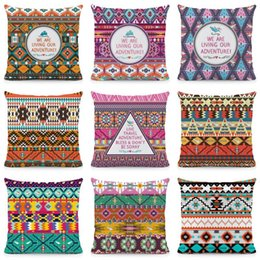 colorful geometric pillows 2021 - Geometric Cushion Cover Colorful Pillow Cases Polyester Pillowcase Home Decorative Throw For Sofa KQ59 Cushion Decorative