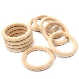 Wholesale Wooden Teether Baby Kids Teethe Beech Ring Teething Round Craft Bracelet Grind Holder Nursing Toy Infant Safe DIY Wood