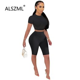 Discount mesh tight shorts Summer Sexy Women Clothing Mesh Spliced Crop Top And Tight Shorts 2 Piece Set Beach Sports Two Dress