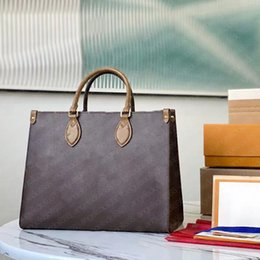 Wholesale Luxurys Designers Womens Handbags Purses shopping bag with Date Code classic brown letters print monogr leather top quality luis vton tote bags