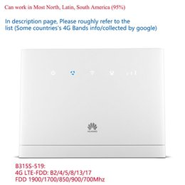 Großhandel Unlocked Huawei B315S-519 4G CPE LTE WIFI-Router Wireless Hotspot Mobile Modem