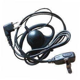 Wholesale D Shape Headphone Headset Earpiece Mic For Motorola GP3188 GP88S EP450 CP040 DEP450 XIR P3688,DP1400,Hytera TC700 Radio Walkie Talkie