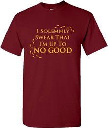 Wholesale swear shirts resale online - I Solemnly Swear That I Am Up to No Good Marauders Map Wizard Movie T Shirt