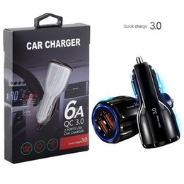 adapter für die note 10 großhandel-Auto Ladegerät QC3 Dual USB Ladegerät V A A Energien Adapter Auto Ladegeräte für iphone Samsung Note S8 S10 htc Android Handy GPS