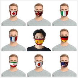 flag mask UK - Face American Canada Reusable United Antidust Kingdom Germany Flag 3d Printing Washable Adjustable Protective Mask 1SV3