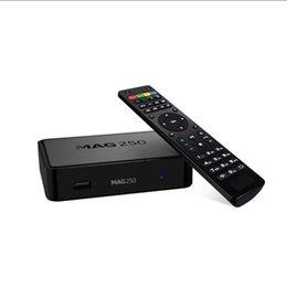 Großhandel 2021New TV-Box Mag250W1 Linux Set Top MAG 250 mit eingebautem WLAN WLAN HEVC H.265 Smart Media Player MAG250 identisch wie MAG322 MAG322W1