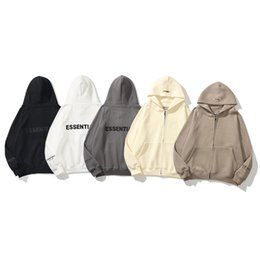 Wholesale cardigans for men for sale - Group buy Official high quality Zipper Cardigan correct edition Hoodies for men and women Leisure fashion trends fear of god fog essentials designer sweatshirts