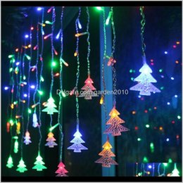 snowflake lighted curtain 2021 - Decorations Big Sale Christmas Decoration Snowflake Led String Flashing Curtain Light Waterproof Outdoor Party Lights 201203 Ci8X Xldq6