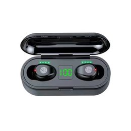 TWS Wireless HeadphoneS GPS V5.0 F9 Bluetooth EarphoneS LED Display With 2000mAh Power Bank Headset Microphon