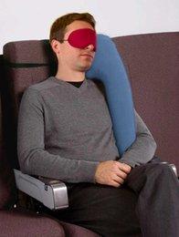 Надувная подушка подушки подушки для путешествий Разнообразные инновационные подушки для путешествий самолета автомобиль спящие подушки шеи подбородок на Распродаже