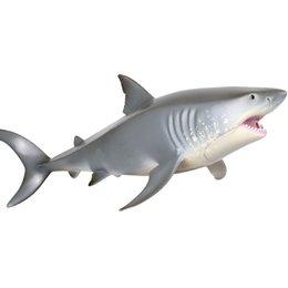 Nouveau produit Marine Life en plastique Hurle Plastique Shark Jouet Grand Shark White Présente des modèles de jouets pour les cadeaux d'anniversaire des garçons et des filles en Solde